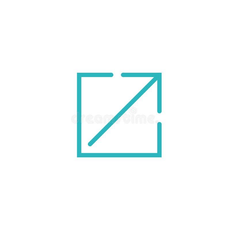 Icona di collegamento esterno per il web di UX o di UI & le applicazioni del cellulare royalty illustrazione gratis