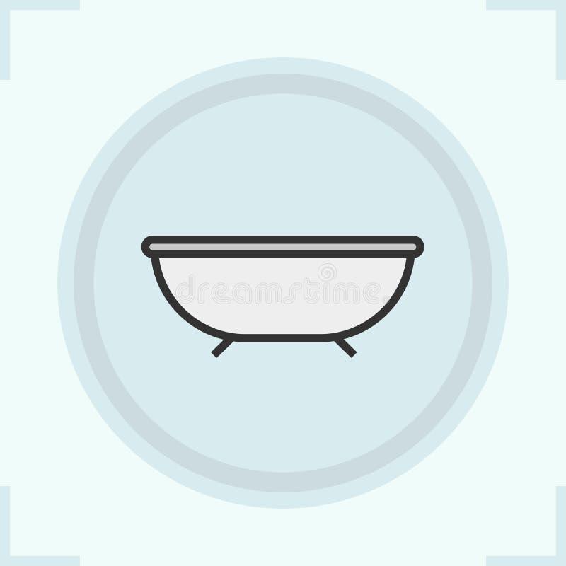 Icona di colore del bagno royalty illustrazione gratis