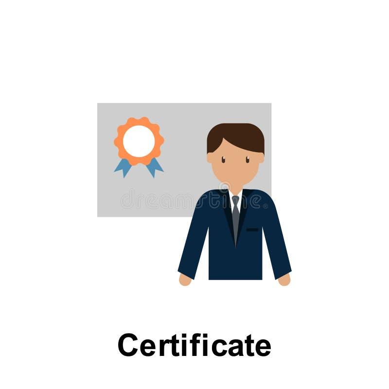 Icona di colore del certificato r Icona premio di progettazione grafica di qualit? Segni ed icona della raccolta di simboli royalty illustrazione gratis