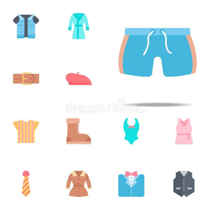 Icona di colore del costume da bagno Insieme universale delle icone dei vestiti per il web ed il cellulare illustrazione vettoriale