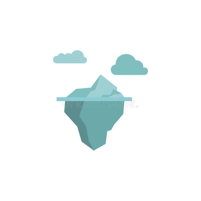 Icona di colore dell'iceberg Elementi icone colorate del paese delle meraviglie di inverno di multi Icona premio di progettazione royalty illustrazione gratis