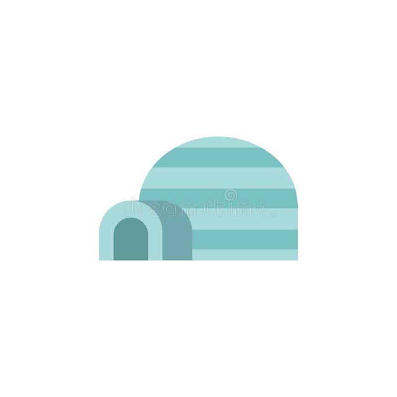 Icona di colore dell'iglù Elementi icone colorate del paese delle meraviglie di inverno di multi Icona premio di progettazione gr royalty illustrazione gratis