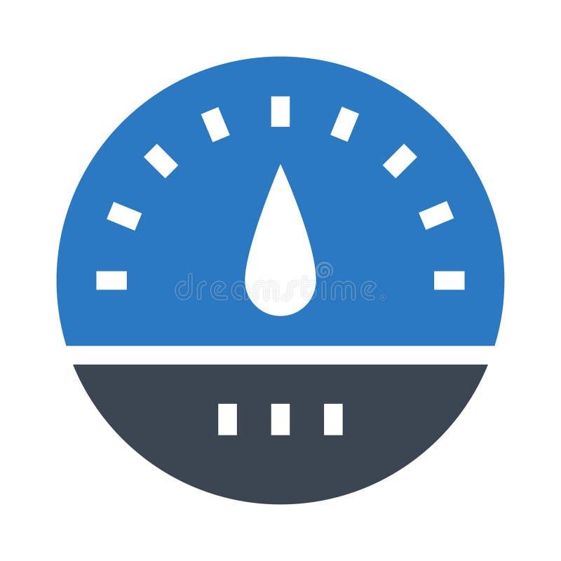 Icona di colore di glifi del tester doppia illustrazione di stock