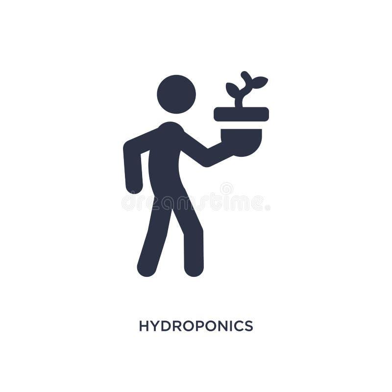 icona di coltura idroponica su fondo bianco Illustrazione semplice dell'elemento da attività e dal concetto di hobby illustrazione di stock