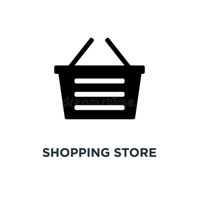 icona di compera del magazzino parte anteriore del deposito, concetto s del supermercato royalty illustrazione gratis