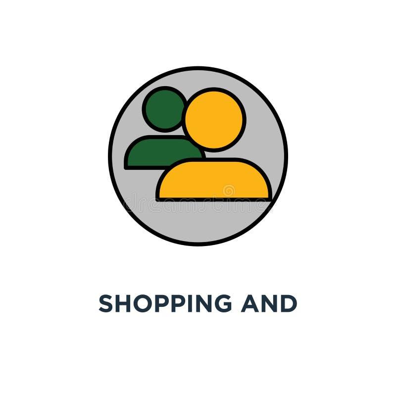 icona di compera e commercializzante la promozione del email, guadagna i punti, la progettazione di simbolo di concetto di proget royalty illustrazione gratis