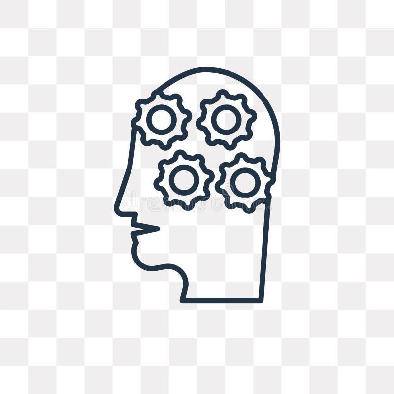 Icona di comprensione di vettore isolata su fondo trasparente, Li royalty illustrazione gratis