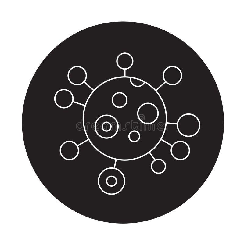 Icona di concetto di vettore del nero di genotipo Illustrazione piana di genotipo, segno royalty illustrazione gratis