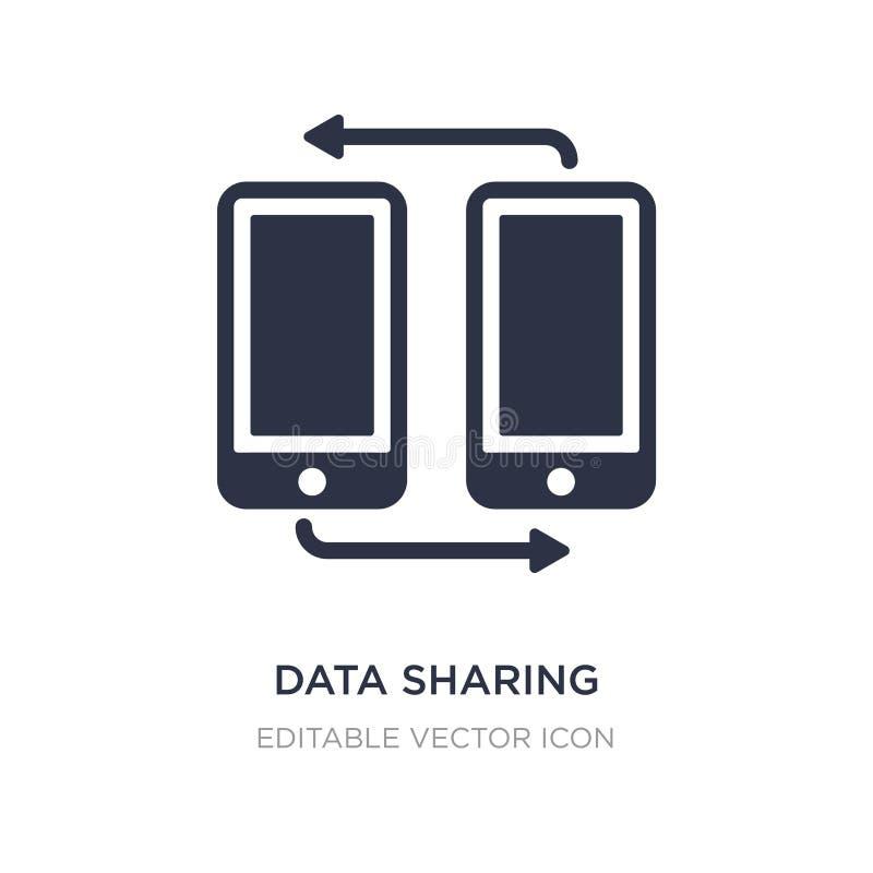 icona di condivisione di dati su fondo bianco Illustrazione semplice dell'elemento dal concetto di multimedia royalty illustrazione gratis