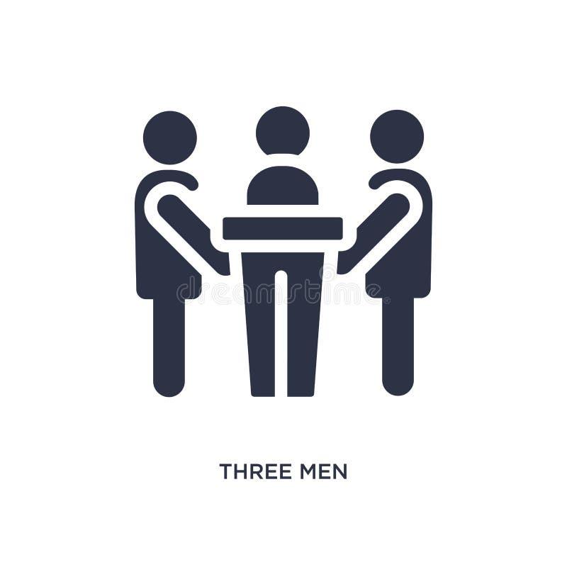 icona di conferenza di tre uomini su fondo bianco Illustrazione semplice dell'elemento dal concetto di comportamento royalty illustrazione gratis