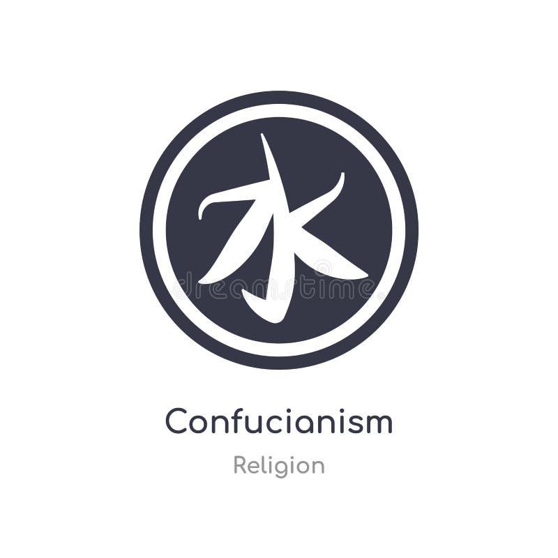 Icona di confucianesimo illustrazione isolata di vettore dell'icona di confucianesimo dalla raccolta di religione editabile canti royalty illustrazione gratis