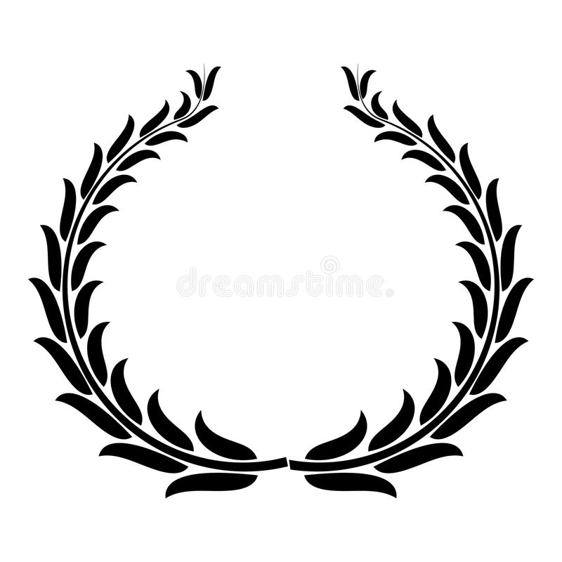Icona di conquista della corona, stile semplice illustrazione di stock
