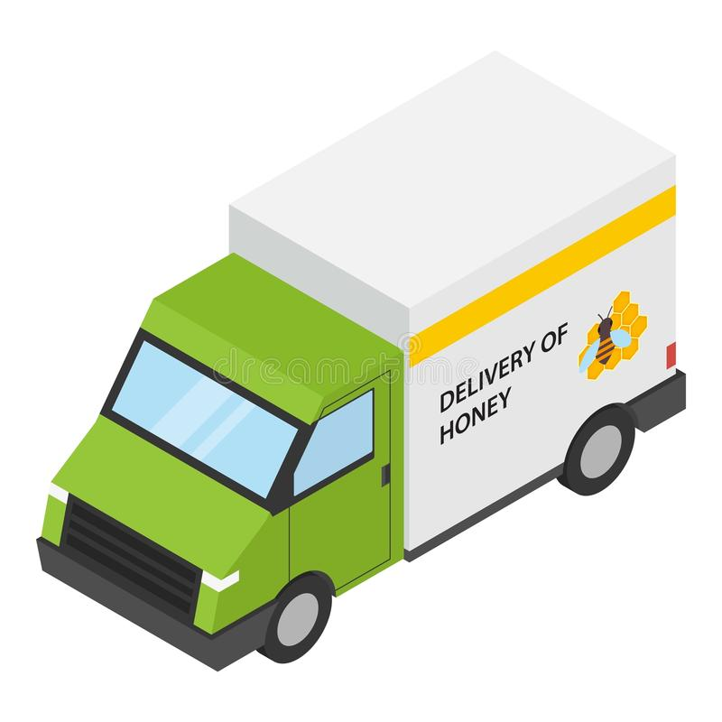 Icona di consegna del miele, stile isometrico royalty illustrazione gratis