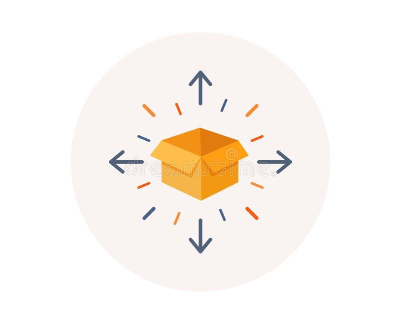 Icona di consegna del pacchetto Segno di servizio di logistica Simbolo di inseguimento Vettore royalty illustrazione gratis