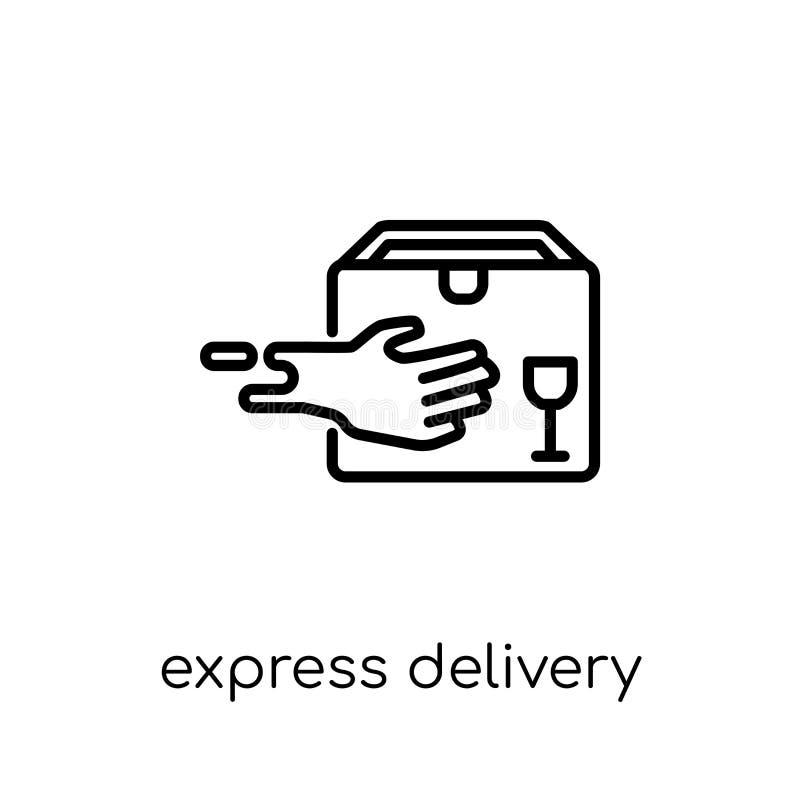 icona di consegna precisa dalla consegna e dalla raccolta logistica royalty illustrazione gratis