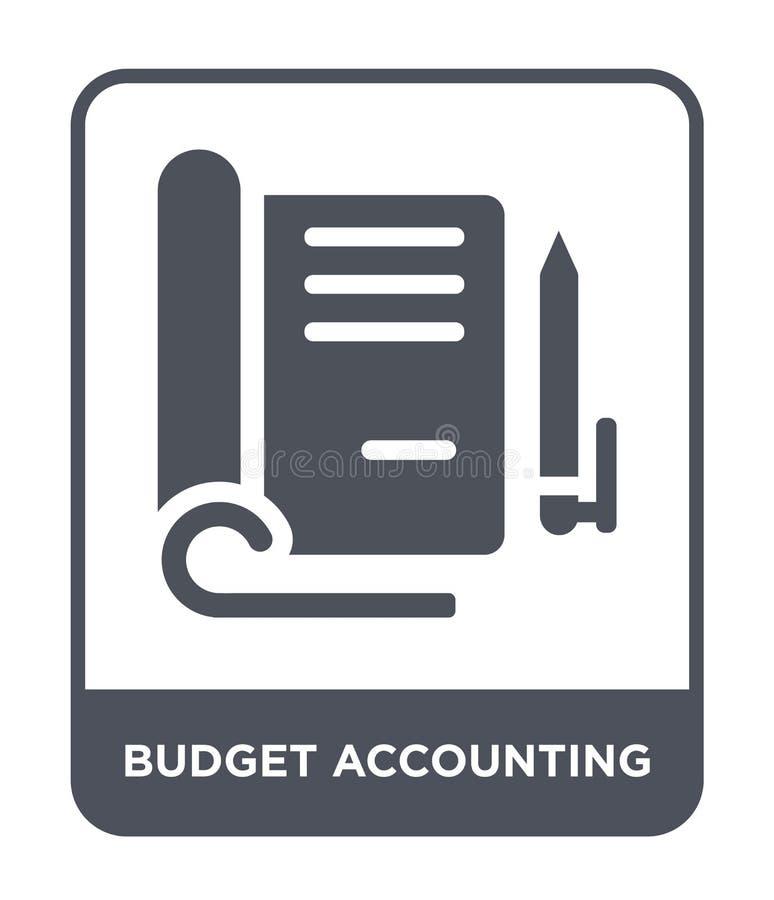 icona di contabilità di bilancio nello stile d'avanguardia di progettazione icona di contabilità di bilancio isolata su fondo bia illustrazione vettoriale