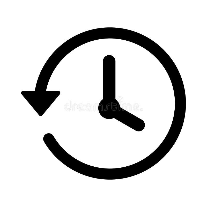 Icona di conto alla rovescia dell'orologio nello stile piano Cronometri l'illustrazione di vettore del cronometro su fondo isolat illustrazione di stock