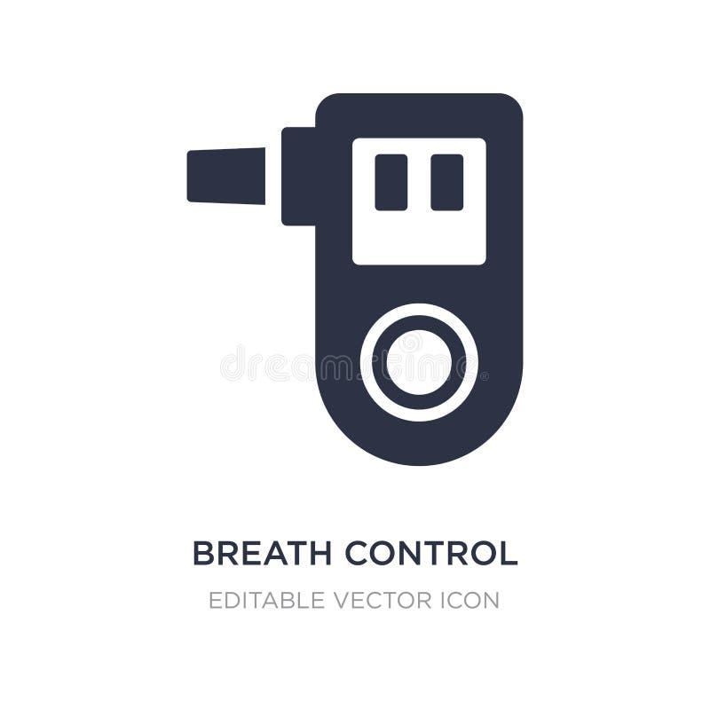 icona di controllo del respiro su fondo bianco Illustrazione semplice dell'elemento dal concetto medico illustrazione di stock