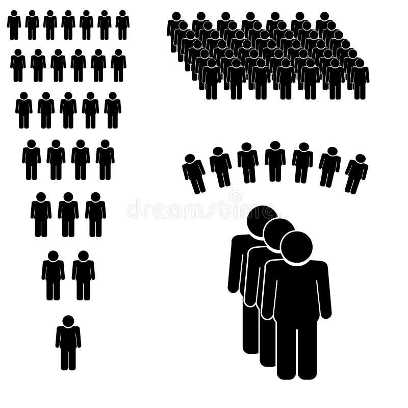 Icona di conversazione della gente illustrazione vettoriale