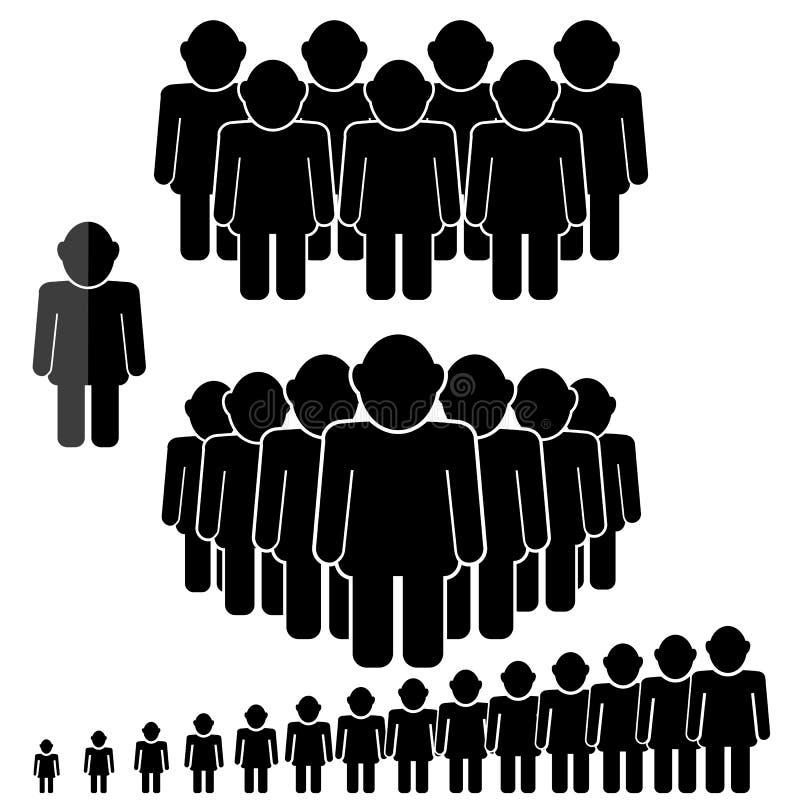 Icona di conversazione della gente illustrazione di stock