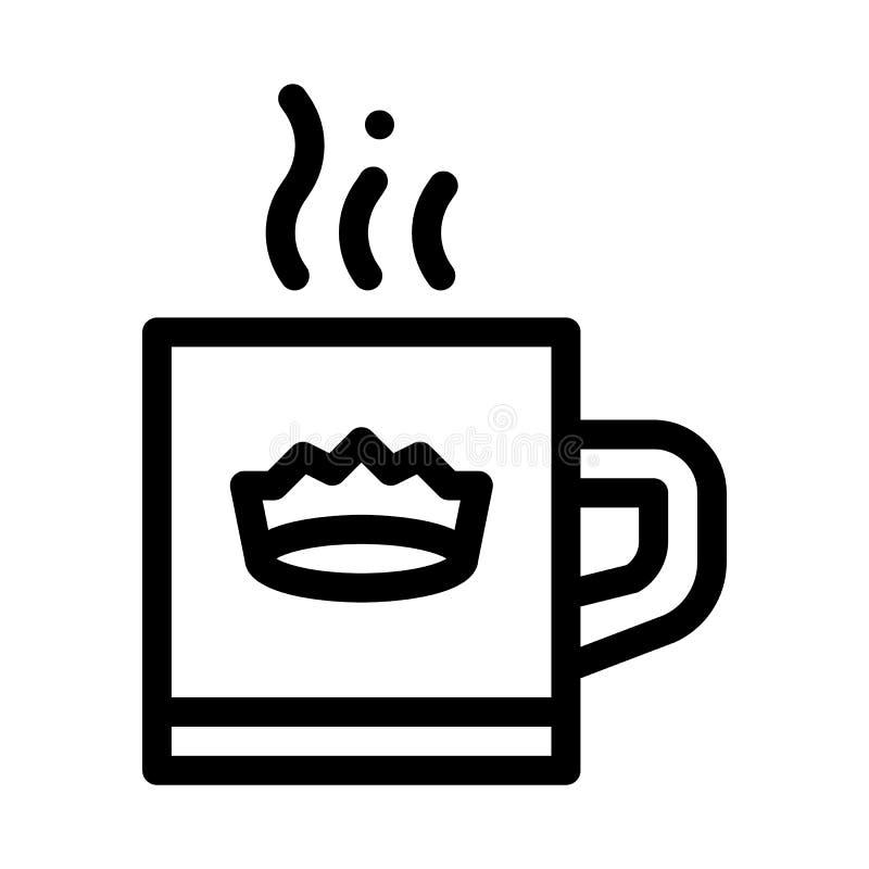 Icona di copertina di Crown Drink Cup illustrazione di stock