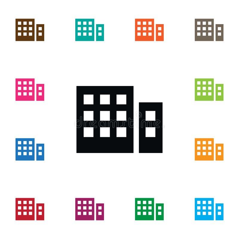Icona di costruzione isolata L'elemento di vettore dell'appartamento può essere usato per la costruzione, l'appartamento, concett royalty illustrazione gratis