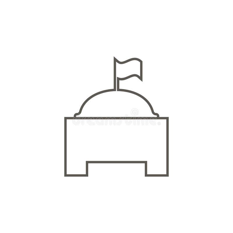 Icona di costruzione monumentale Illustrazione semplice dell'elemento dalla mappa e dal concetto di navigazione Icona di costruzi illustrazione vettoriale