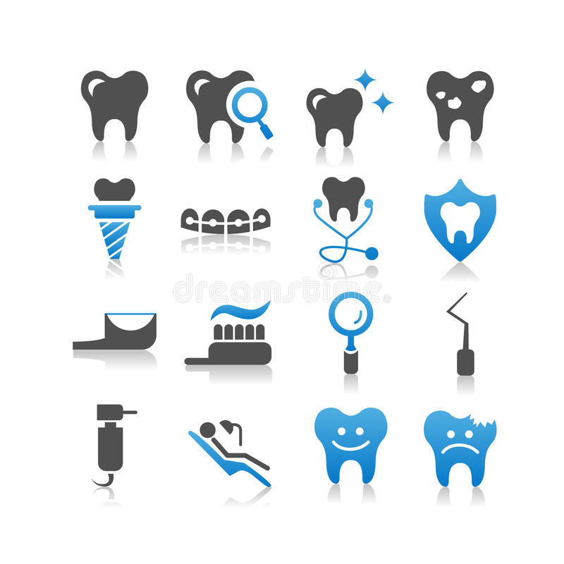 Icona di cure odontoiatriche illustrazione di stock