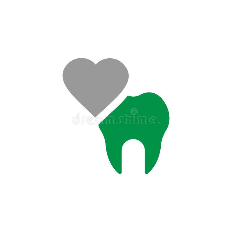 Icona di cure odontoiatriche e del cuore Elemento dell'icona di cure odontoiatriche per i apps mobili di web e di concetto L'icon illustrazione vettoriale