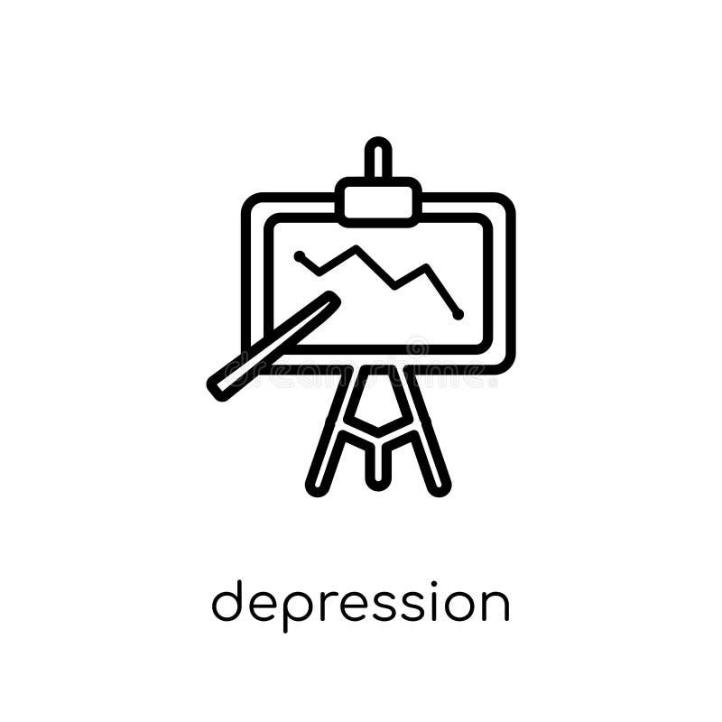 Icona di depressione  illustrazione vettoriale