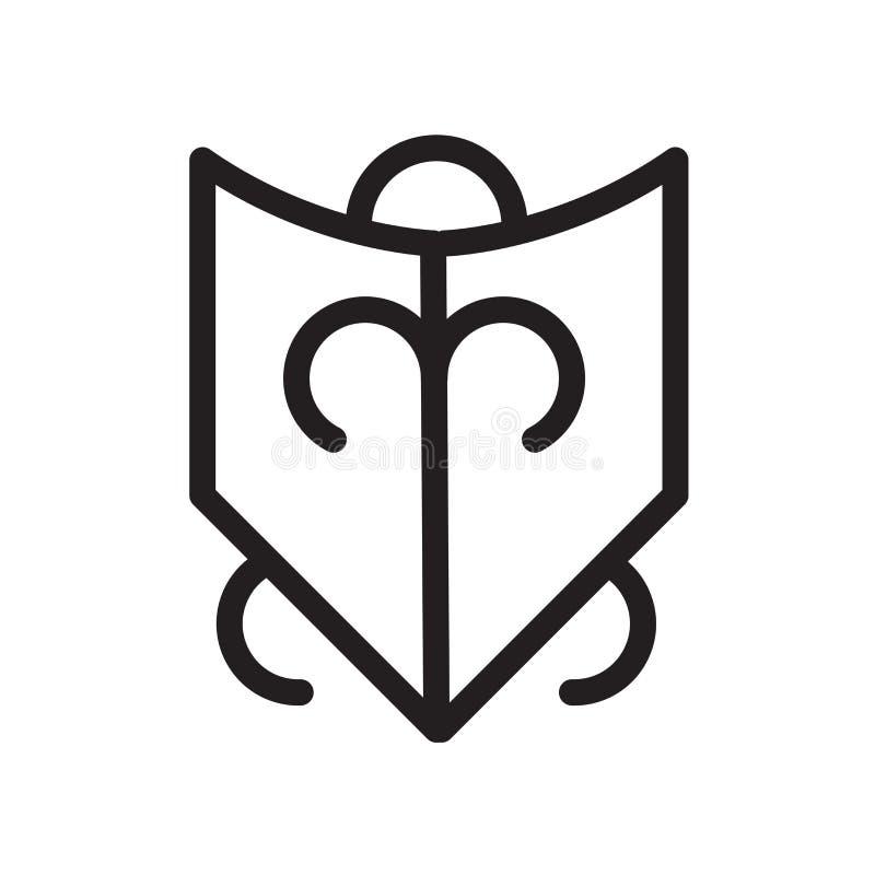 Icona di devozione isolata su fondo bianco illustrazione vettoriale