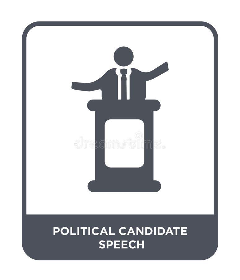icona di discorso del candidato politico nello stile d'avanguardia di progettazione icona di discorso del candidato politico isol royalty illustrazione gratis