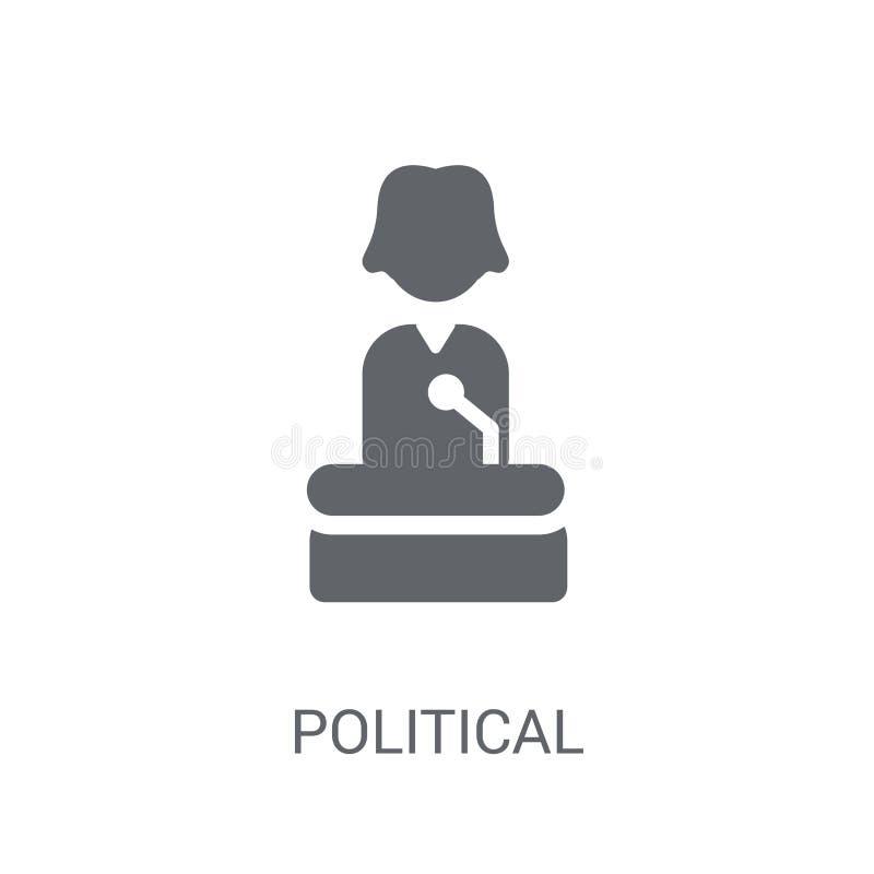 Icona di discorso del candidato politico Spee d'avanguardia del candidato politico royalty illustrazione gratis