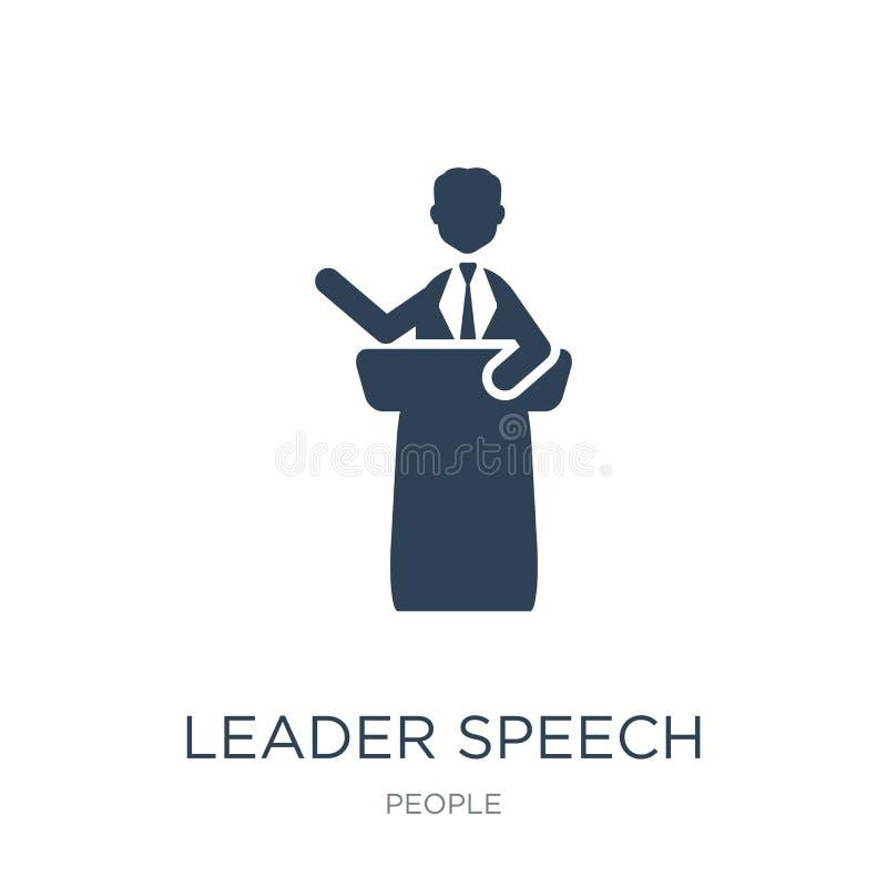 icona di discorso del capo nello stile d'avanguardia di progettazione icona di discorso del capo isolata su fondo bianco icona di illustrazione di stock