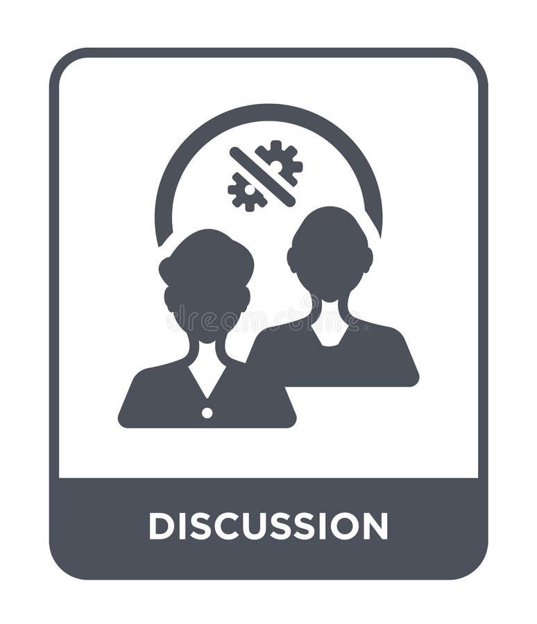icona di discussione nello stile d'avanguardia di progettazione Icona di discussione isolata su fondo bianco icona di vettore di  illustrazione di stock
