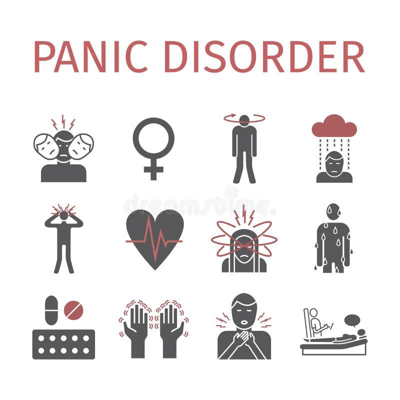 Icona di disordine di panico infographic illustrazione di stock