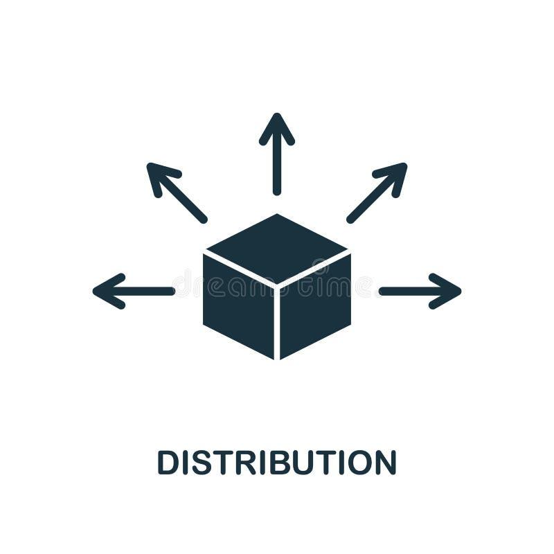 Icona di distribuzione Progettazione monocromatica di stile dalla raccolta dell'icona del blockchain UI e UX Icona perfetta di di royalty illustrazione gratis