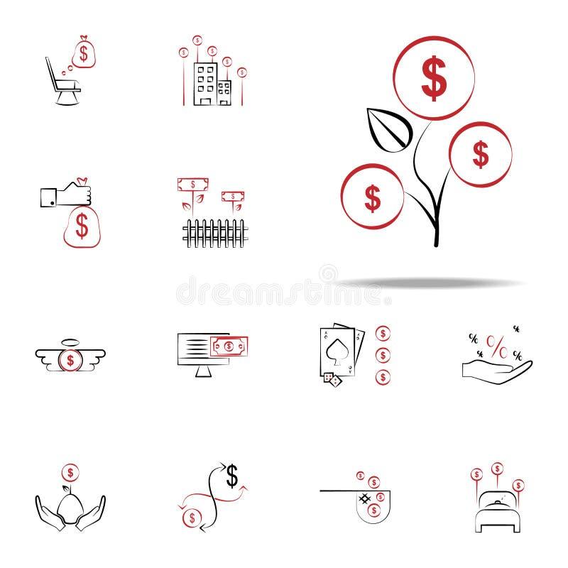 Icona di dividendi Finanzi l'insieme universale delle icone per il web ed il cellulare royalty illustrazione gratis