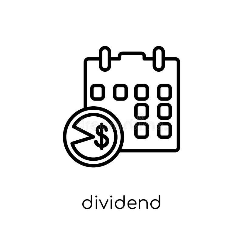 Icona di dividendo dalla raccolta di dividendo royalty illustrazione gratis