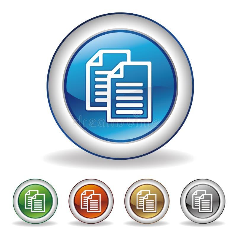 icona di documento illustrazione di stock