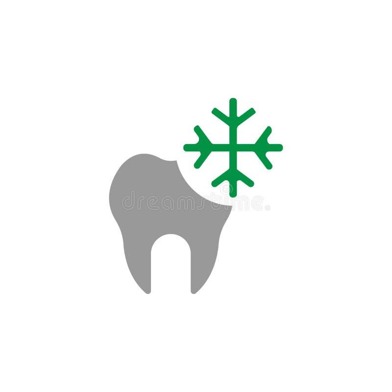 Icona di dolore e fredda Elemento dell'icona di cure odontoiatriche per i apps mobili di web e di concetto L'icona dettagliata di illustrazione vettoriale