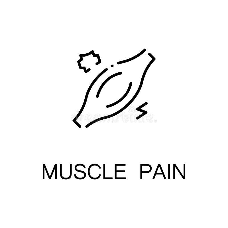 Icona di dolore muscolare illustrazione vettoriale..
