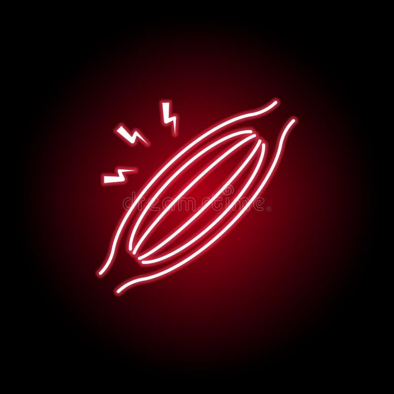 icona di dolore muscolare nello stile al neon Elemento di dolore del corpo umano per l'illustrazione mobile dei apps di web e di  illustrazione vettoriale