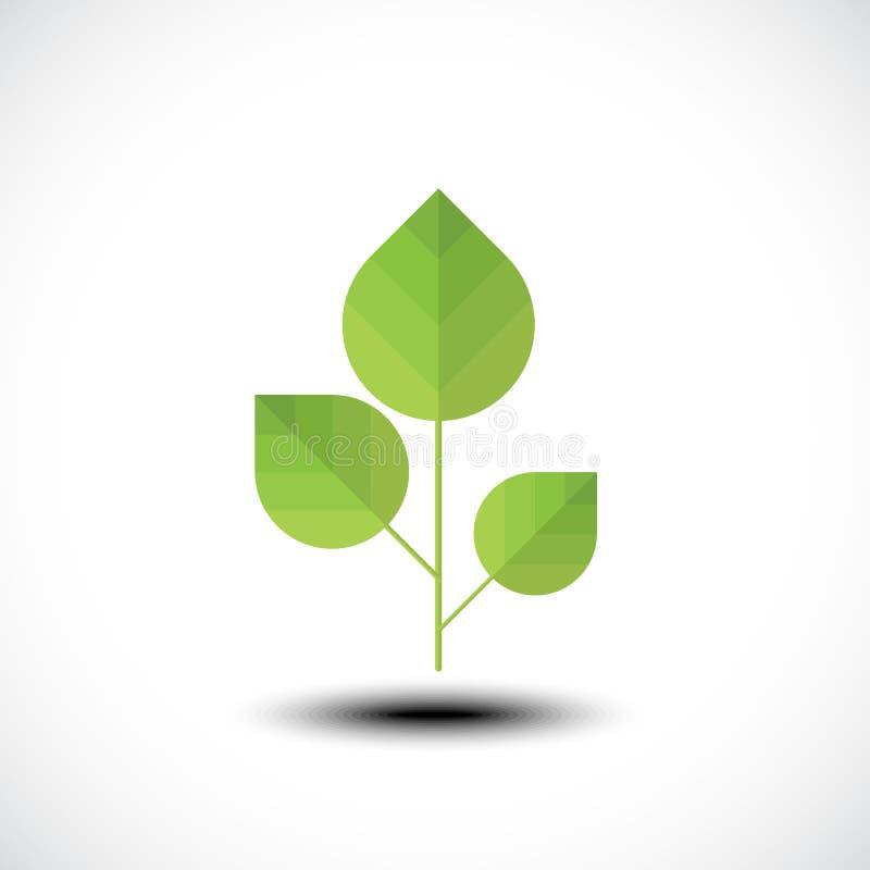 Icona di Eco con i fogli verdi royalty illustrazione gratis