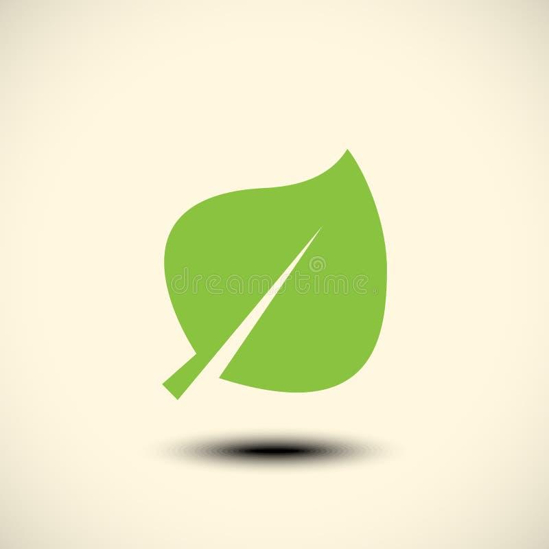 Icona di Eco con la foglia verde illustrazione vettoriale