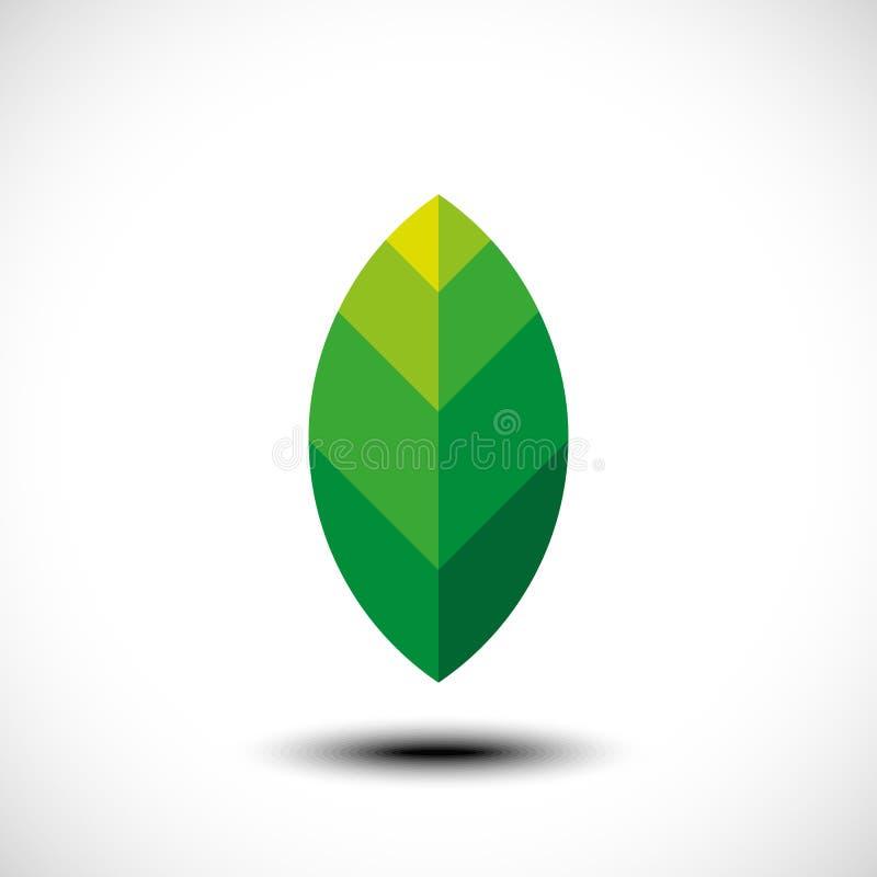 Icona di Eco con la foglia verde royalty illustrazione gratis