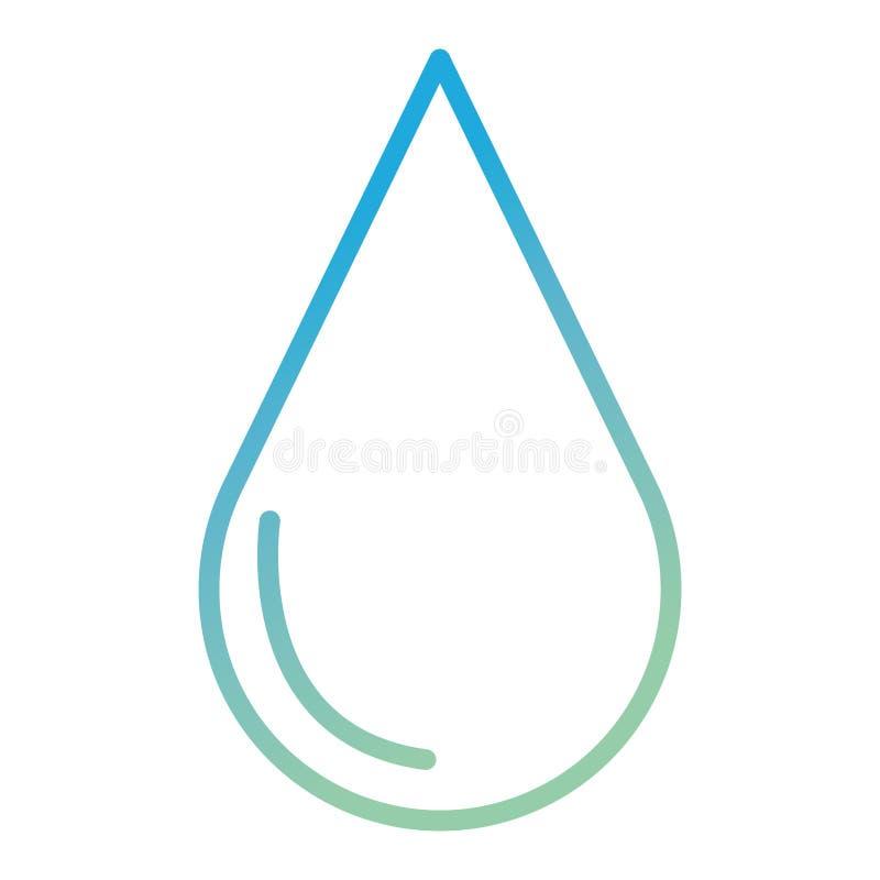 Icona di ecologia della goccia di acqua illustrazione vettoriale
