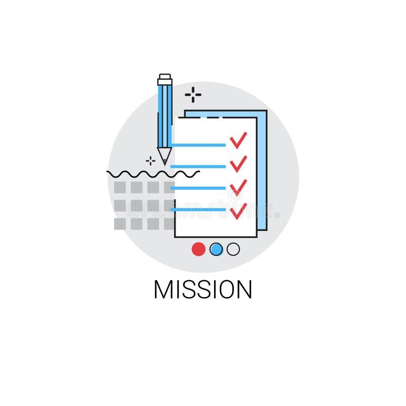Icona di economia di affari di visione di vendita di missione illustrazione vettoriale