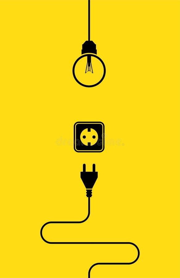 Icona di elettricità piana fotografia stock libera da diritti