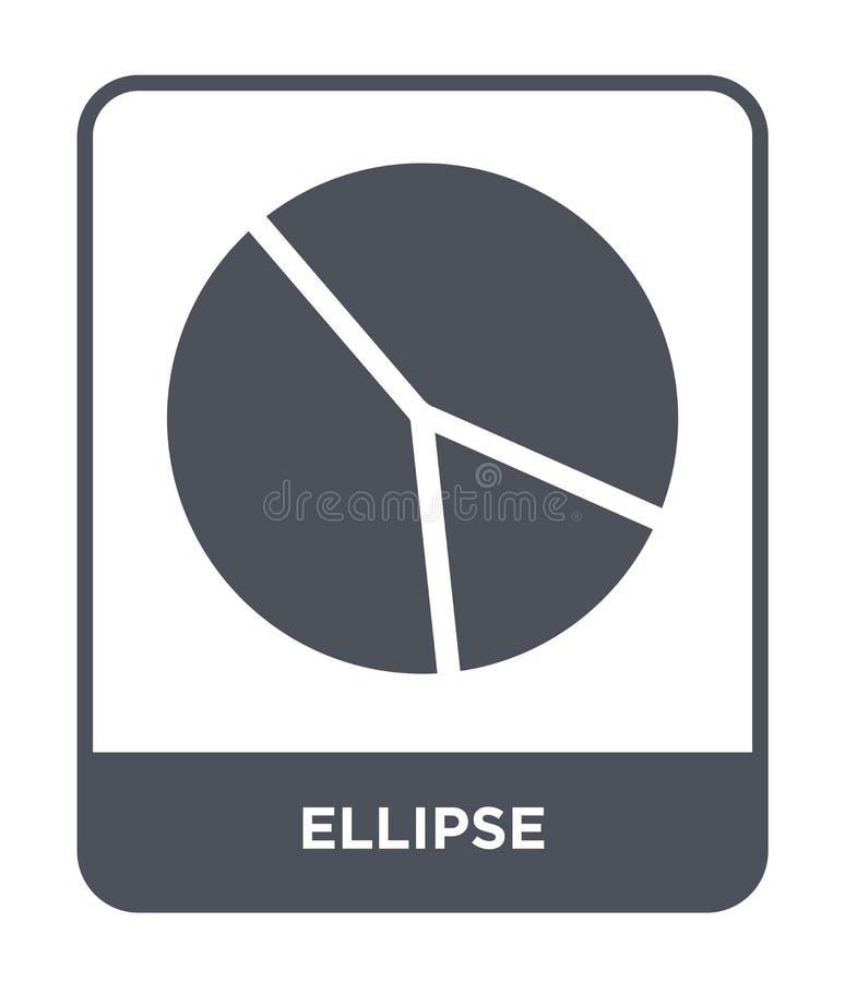 icona di ellisse nello stile d'avanguardia di progettazione icona di ellisse isolata su fondo bianco simbolo piano semplice e mod royalty illustrazione gratis